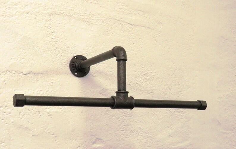 Appendiabiti a muro con tubi idraulici stile industriale etsy