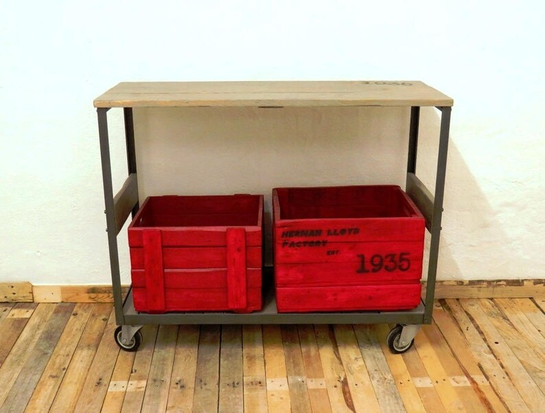 Trolley Coffee Table.Console With Wheels Trolley Coffee Table Display