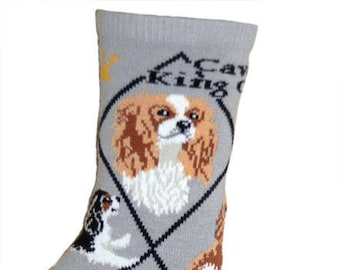 e7ef1eb1d0a6 Cavalier King Charles Spaniel Dog Breed Lightweight Stretch Cotton Adult  Socks