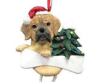 df42c91d89f59 Puggle Dangling Wobbly Leg Dog Bone Christmas Ornament