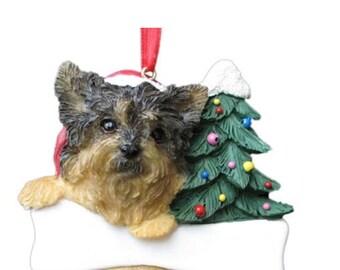 Yorkie Ornament Etsy