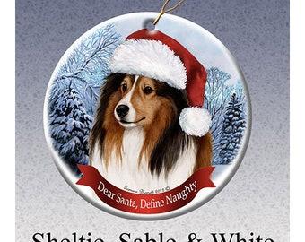 Sheltie ornament | Etsy