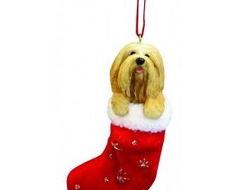 LIMITED EDITION Chris Hoy PEKINGESE Dog Porcelain Handpainted Christmas Ornament