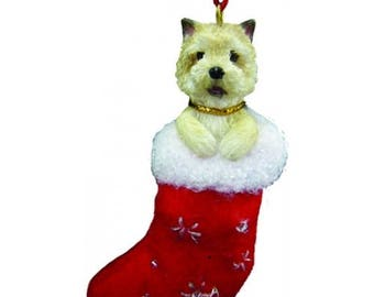Cairn Terrier Santa's Little Pals Dog Christmas Ornament