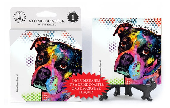 Dean Russo Boxer Love Patchwork Dog T-Shirt