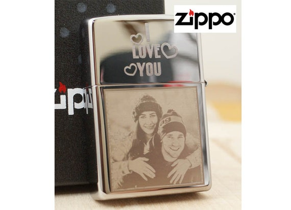 Photo Lighter Laser Engraved Zippo Lighter Customized With Etsy