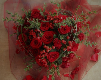 Valentine's Day Flowers - For Local Delivery Only (Exmoor Area)