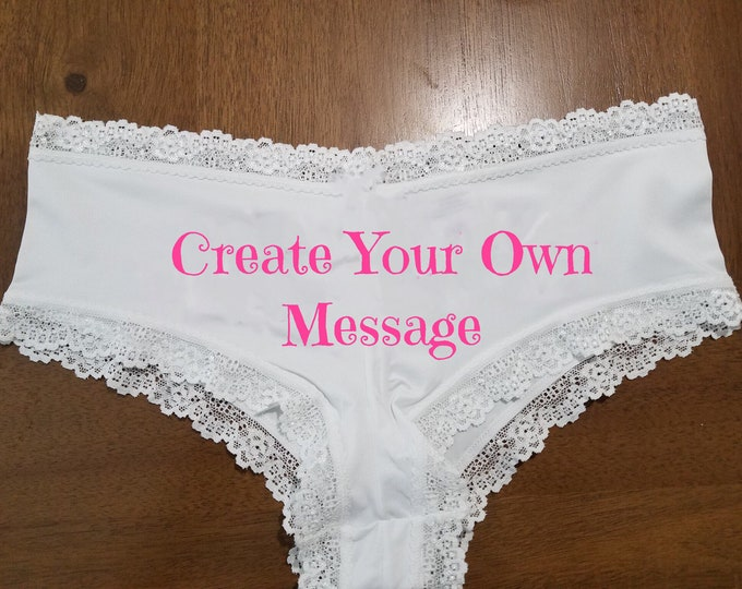 "Personalized Lace ""Create Your Own Message or Pick A Design"