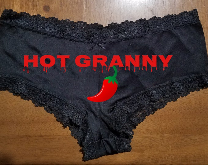 "Personalized Lace Sexy ""Hot Granny""/FAST SHIPPING/Birthday/Anniversaries"