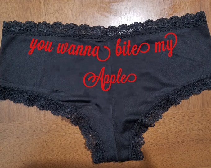 """Personalized Lace Sexy  """"you wanna bite my Apple""""/FAST SHIPPING/Anniversaries/Birthdays"""