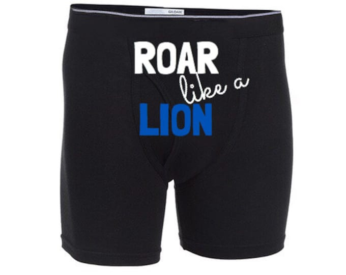 """Personalized Sexy""""Roar like a Lion""""Boxer Briefs/FAST SHIPPING/Celebrations"""