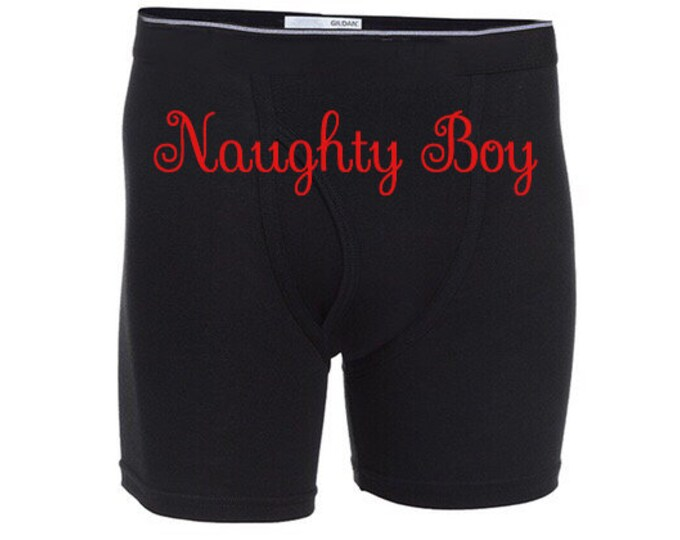 """Personalized Sexy """"Naughty Boy"""" Men Boxer Briefs\FAST SHIPPING"""
