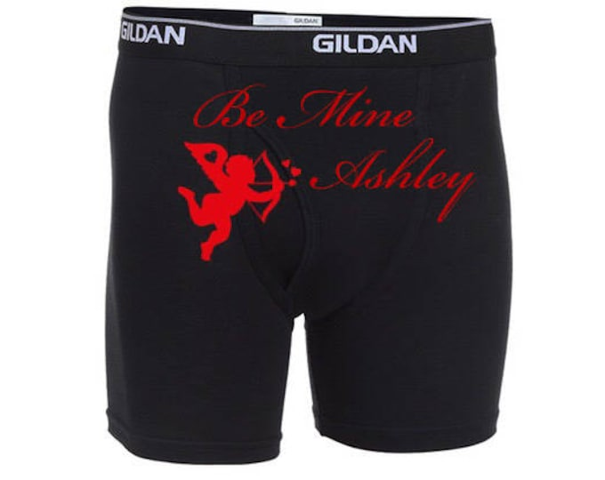 """Personalized """"Be Mine """" Men Valentine's Day Boxer Briefs/FAST SHIPPING/Special Occasion"""
