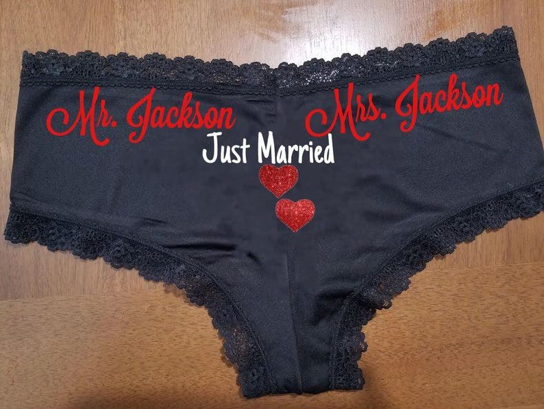 2467f381f2f Sexy Personalized Lace Sexy Just Married Panties FAST