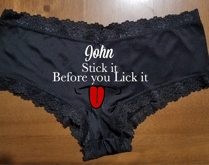 """Sexy """"Stick it before you lick it"""" Lace Panties/FAST SHIPPING/Celebrations"""