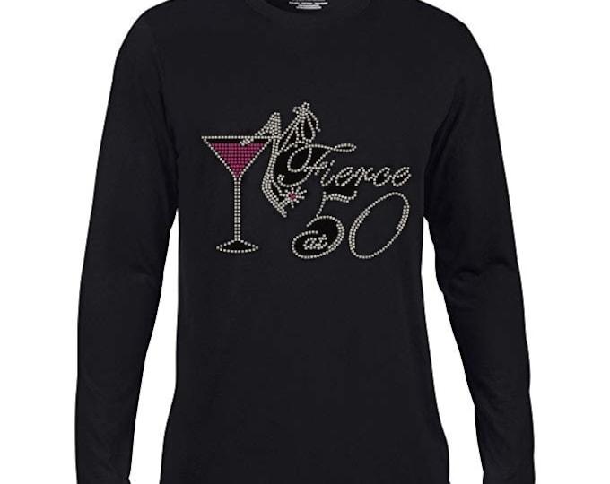 Birthday Fierce 50 Rhinestones T-shirts\FAST SHIPPING\Birthdays
