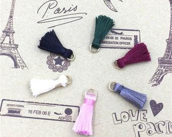 10pcs/lot Small Tassel  Mini Tassels jewelry tassels accessories tassel pendant charm DIY Craft Supplies-V0013