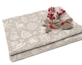 Christmas Tablecloth Etsy