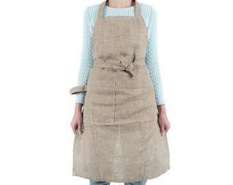 Linen Garden Apron Unisex SALE, Linen Gardener Apron For Man, Linen  Gardener Apron For Woman