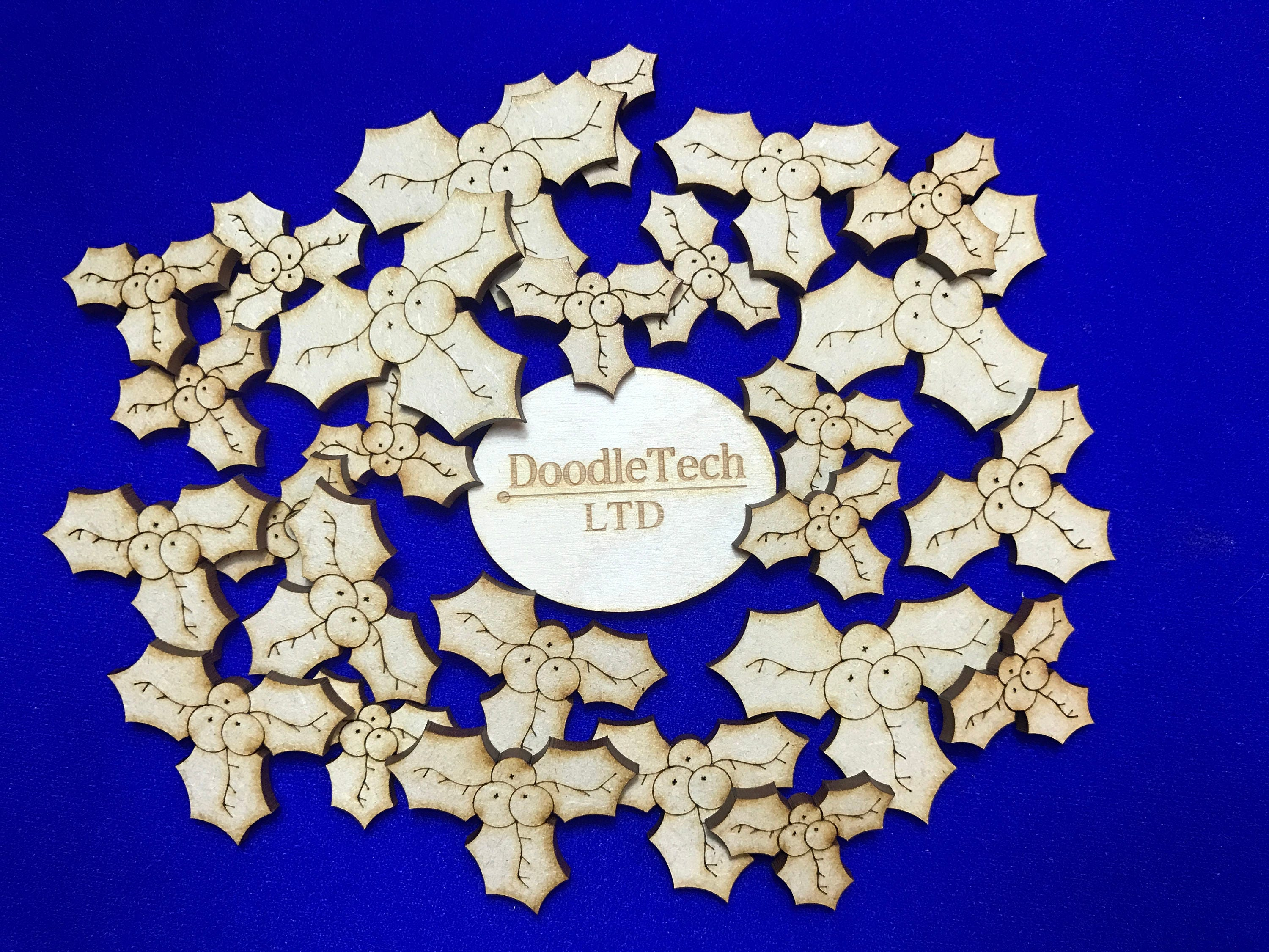 Intricate Wooden Xmas MDF Laser Cut Shape Large Christmas Angel Baubles