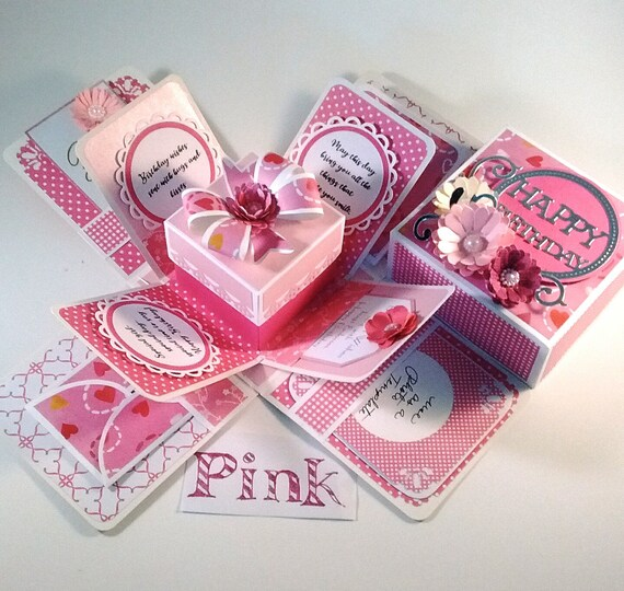Explosion Box For BIRTHDAY FEMININE Happy Birthday