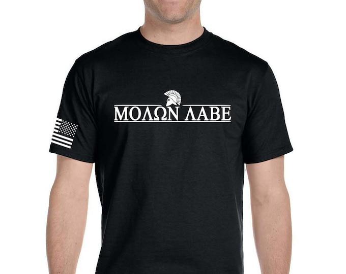 2nd Amendment Shirt - Molon Labe -Pro 2A - Gym Shirt - America - Military - Veteran - Workout Shirt - Three Percenter