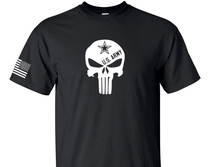 Army Shirt - Punisher - Mens Army Shirt - Womens Army Shirt - Army National Guard - Army Veteran - Military Shirt - Army Reserve - Soldier