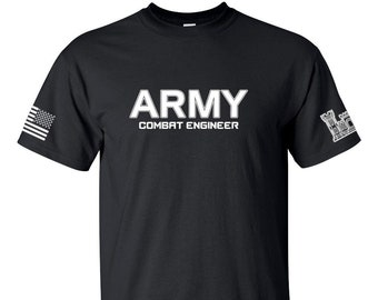 Army Shirt - Combat Engineer - Sapper - Mens and Womens Unisex Army Shirt - Army National Guard - Army Veteran - 12 Bravo - Army Soldier