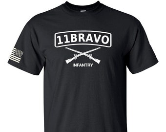 Army Shirt - Infantry - 11 Bravo  - Army National Guard - Army Reserve - Army Veteran - Army Soldier - Infantry Shirt - Military Shirt