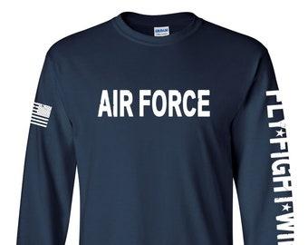 381d4b91 Air Force Shirt- Air Force long sleeve - Air Force Veteran - Air Force Shirt  Women - Air Force Shirt Men - Air National Guard - Airman