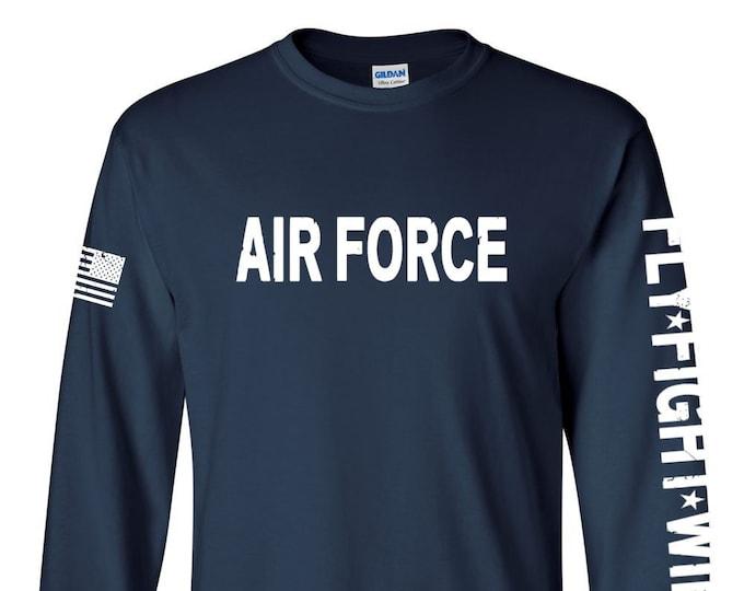 Air Force Shirt- Air Force long sleeve - Air Force Veteran - Air Force Shirt Women - Air Force Shirt Men - Air National Guard - Airman