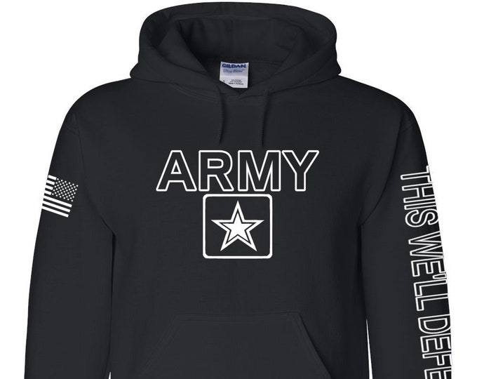 Army Hoodie - This We'll Defend - Mens and Womens Hoodie - National Guard - Army Veteran - Army Reserve - US Army Hoodie