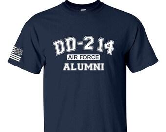 DD214 Alumni - Air Force - Mens and Womens Shirt - Unisex Shirt - USAF Veteran - Military Veteran - Airman - Air National Guard - Gift Idea