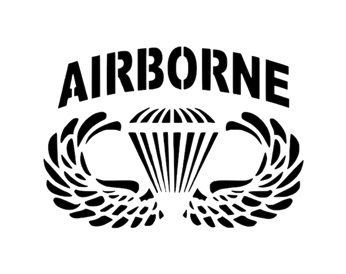 Airborne - Army - Veteran - Soldier - Vinyl Decal - Die Cut Vinyl Decal - Automotive Decal - Window Decal - National Guard - Army Reserve