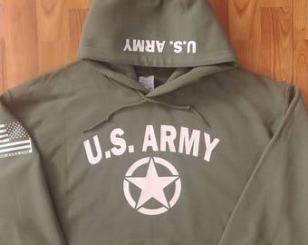 Army - Army Hoodie - Army Sweatshirt - Mens Army Hoodie - Womens Army Hoodie - National Guard - Army Veteran - Army Wife - US Army Hoodie