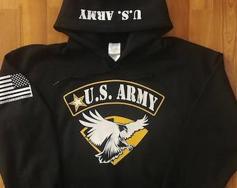 Army - Army Hoodie - Army Sweatshirt - Mens Army Hoodie - Womens Army Hoodie - National Guard - Army Veteran - Army Soldier - US Army Hoodie