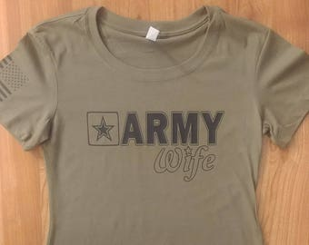 Army - Army Wife - Womens Army Shirt - Army Tshirt - National Guard - Army Wife Shirt - US Army - Short Sleeve Army Wife Shirt - Soldier