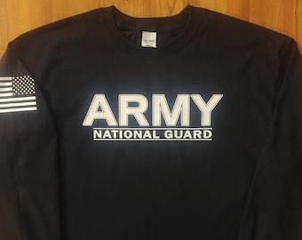Army - National Guard - Mens Army Shirt - Womens Army Shirt - Long Sleeve - Army Veteran - Army Wife - National Guard Shirt - US Army Shirt