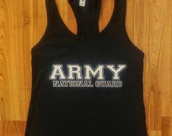 Army Shirt - Women's Army National Guard Shirt - Women's Tank Top - Women's Gym Shirt - Army Veteran - Army Shirt For Women