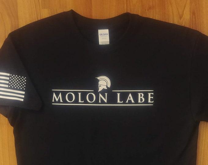 2A - Molon Labe - 2nd Amendment - Gun Rights - Gym Shirt - America - Military - Freedom - Workout Shirt - Three Percenter