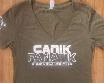 Canik Fanatik - Women's Shirt - Canik Guns - Womens Canik Fanatik Shirt - V-Neck - Crew Neck