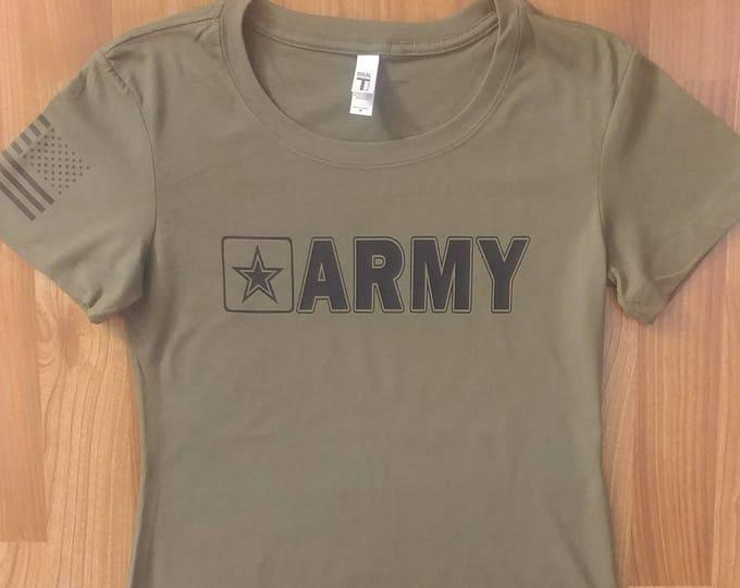 Army - Army Shirt - Womens Army Shirt - Army National Guard - Army Veteran - Army Wife - Army Soldier - Army Mom
