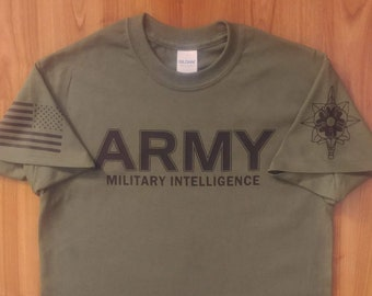 Army Shirt - Military Intelligence - Mens and Womens Army Shirt - Army National Guard - Army Veteran - Army Reserve