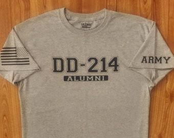 Army Shirt - DD214 Alumni - Mens Army Shirt - Womens Army Shirt - Unisex Shirt - Army Veteran - Soldier - National Guard - Army Gift Idea
