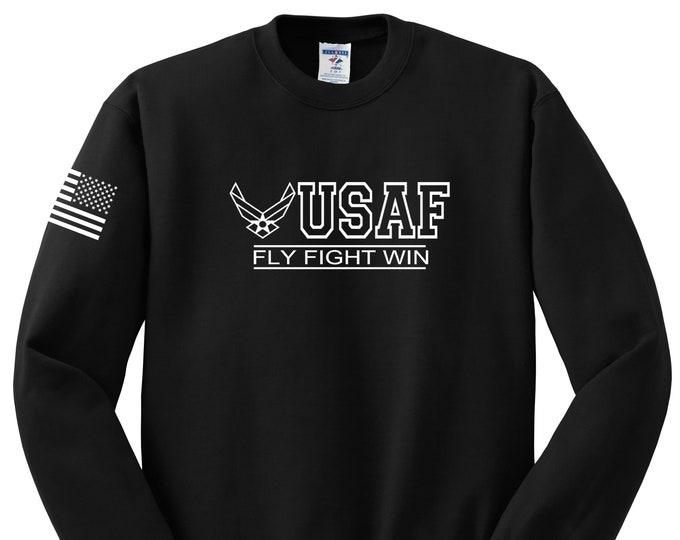 """Air Force - Crew Neck Sweatshirt - Men""""s and Women's - Air Force Veteran - Air National Guard - Airman - USAF - USAF Sweatshirt"""