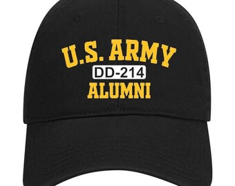 Army Hat - DD-214 Alumni - Army Veteran - Army Reserve - Army National Guard - Military Veteran - Unstructured Hat - Veteran Gift Idea