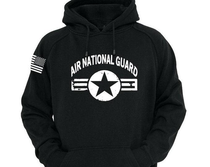 Air Force - Air National Guard Hoodie - Mens and Womens Hoodie - Air Force Veteran - Vintage Design - Airman - USAF Hoodie