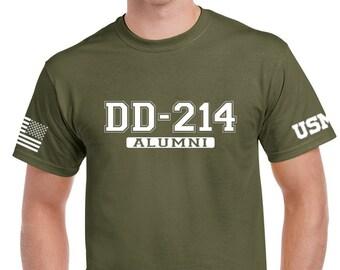 0581812cab9b DD214 Alumni - Marine Veteran - Mens Shirt - Womens Shirt - Unisex Shirt