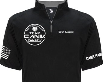 Team Canik Fanatik Jersey - 1/4 Zip v03 - Competition IDPA USPSA - Canik Fanatik Shirt - Competition Team - Shooting Sports