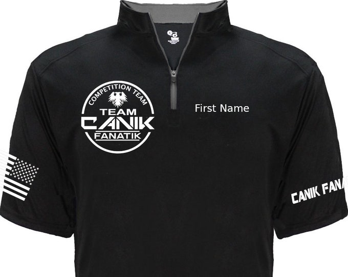 Team Canik Fanatik Jersey - 1/4 Zip v03 - Competition IDPA USPSA - Canik Fanatik Shirt - Competition Team - Shooting Sports